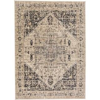 """Grand Bazaar Huron Charcoal/Beige (4'11"""" x 7'8"""") - 4'11"""" x 7'8"""""""