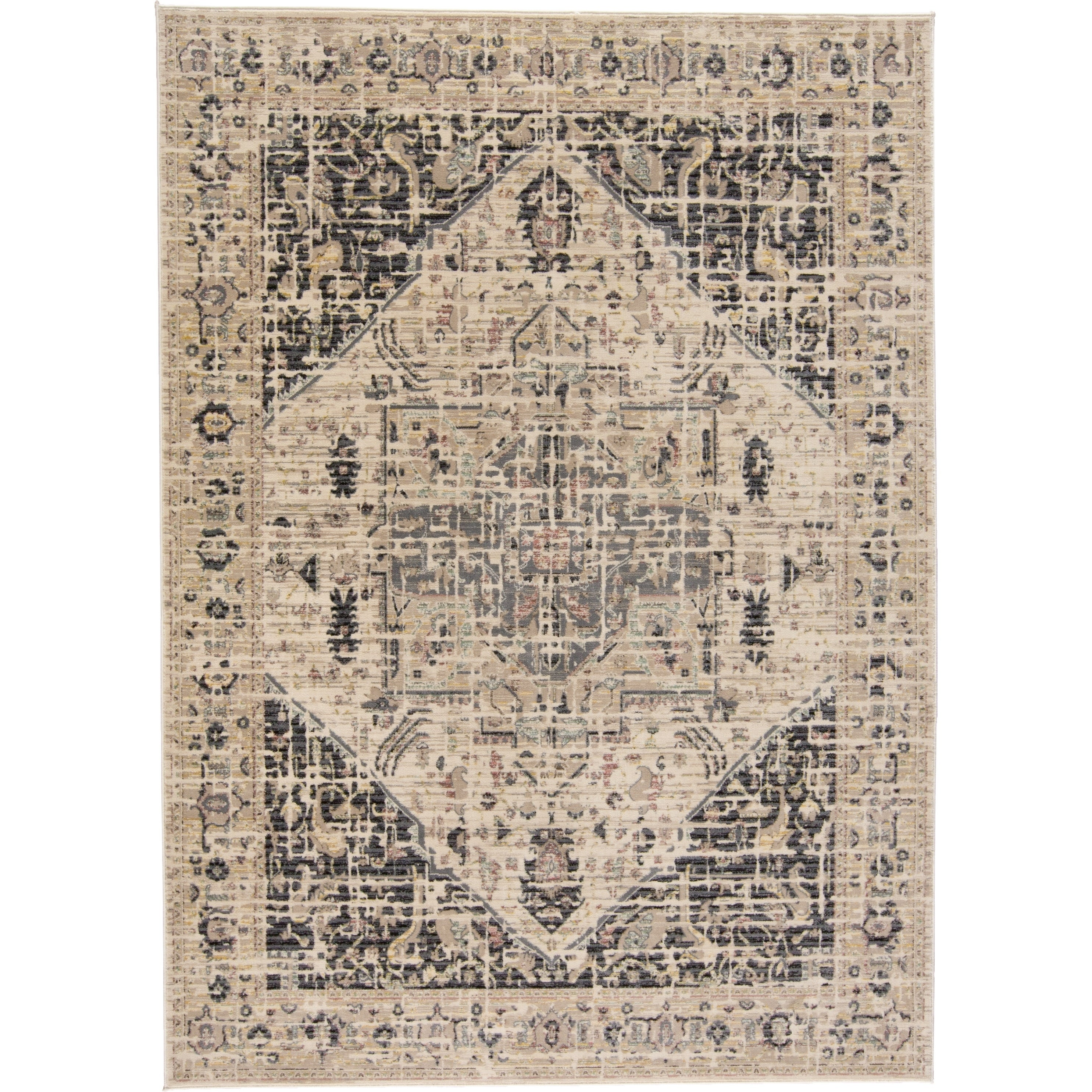 Grand Bazaar Huron Charcoal/Beige (411 x 78) - 411 x 78 (Charcoal/Beige - 411 x 78)