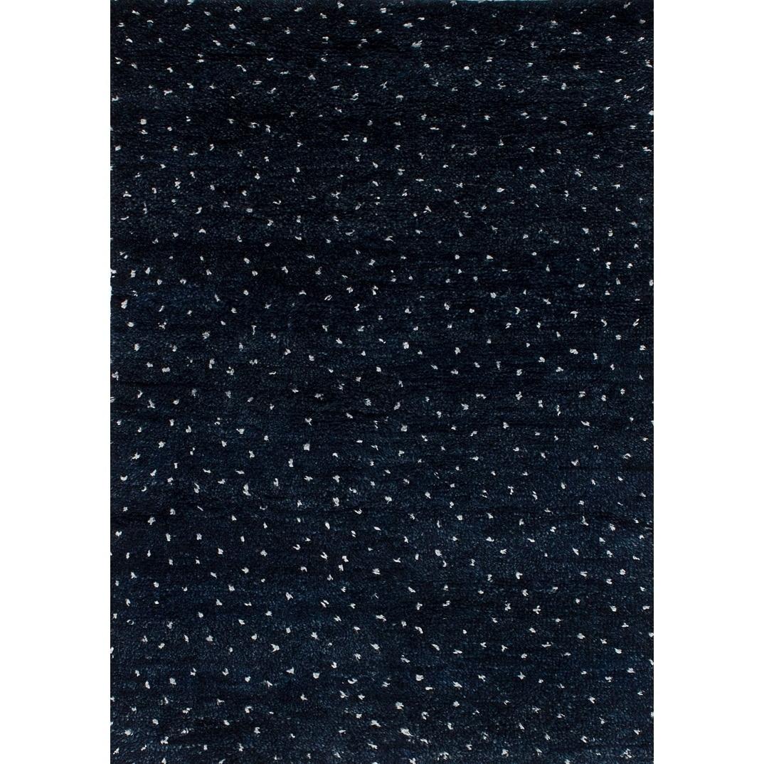 ECARPETGALLERY  Hand-knotted Arlequin Dark Navy Silk, Wool Rug - 40 x 60 (40 x 60)