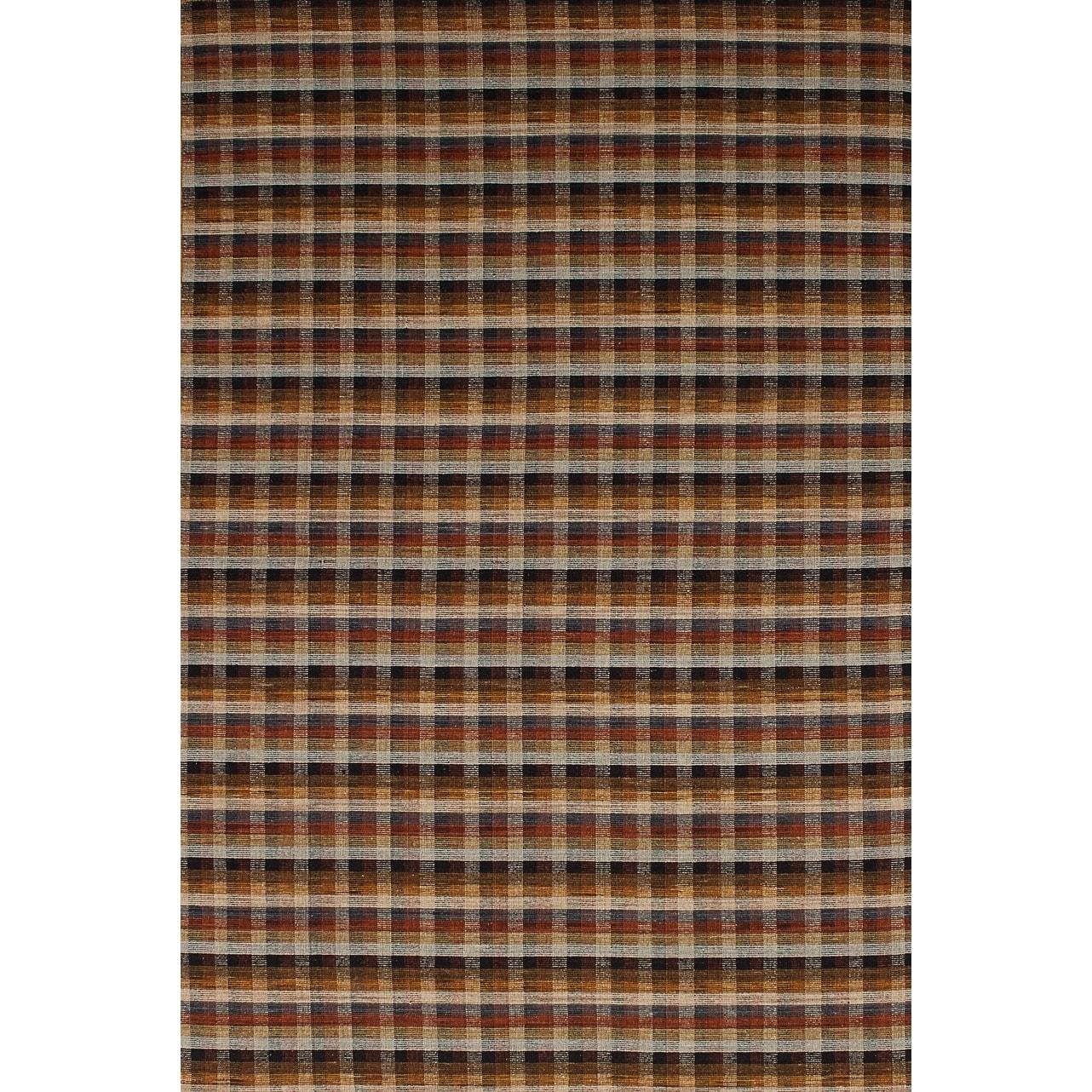 ECARPETGALLERY Flat-weave Manhattan Brown, Dark Red Wool Sumak - 50 x 77 (Brown/Red - 50 x 77)