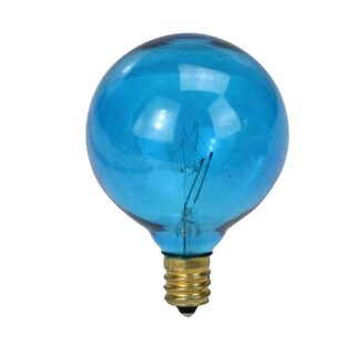 Pack of 25 Blue G50 Incandescent Christmas Replacement Bulbs
