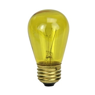 Pack of 25 Incandescent S14 Yellow Christmas Replacement Bulbs