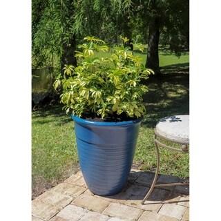 Begonia Set of 2 Planter Set - Blue