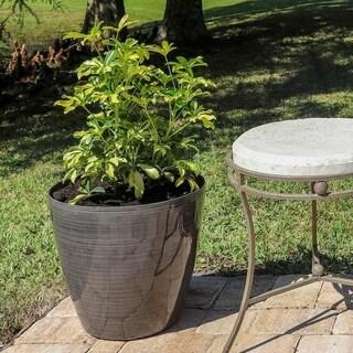 Clover 2 Piece Round Planter Set - Grey