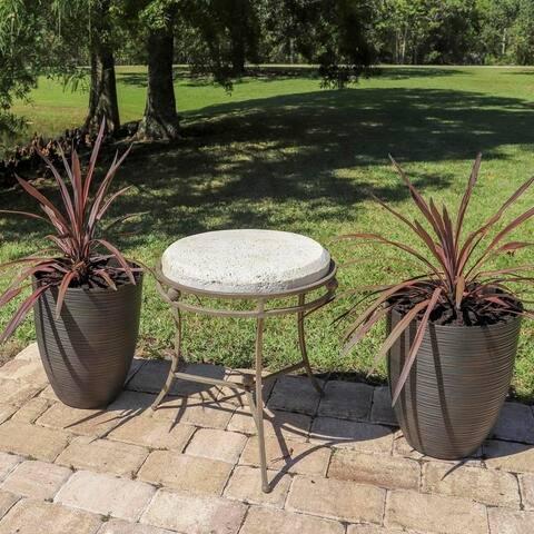 Sage 2 Piece Round Planter Set - Brown