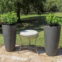 Vervain 2 Piece Round Planter Set - Brown