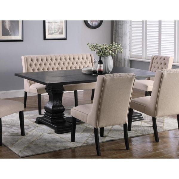 Best Master Furniture Rectangular Antique Black Dining Table