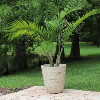 Dahlia 2 Piece Round Planter Set - White