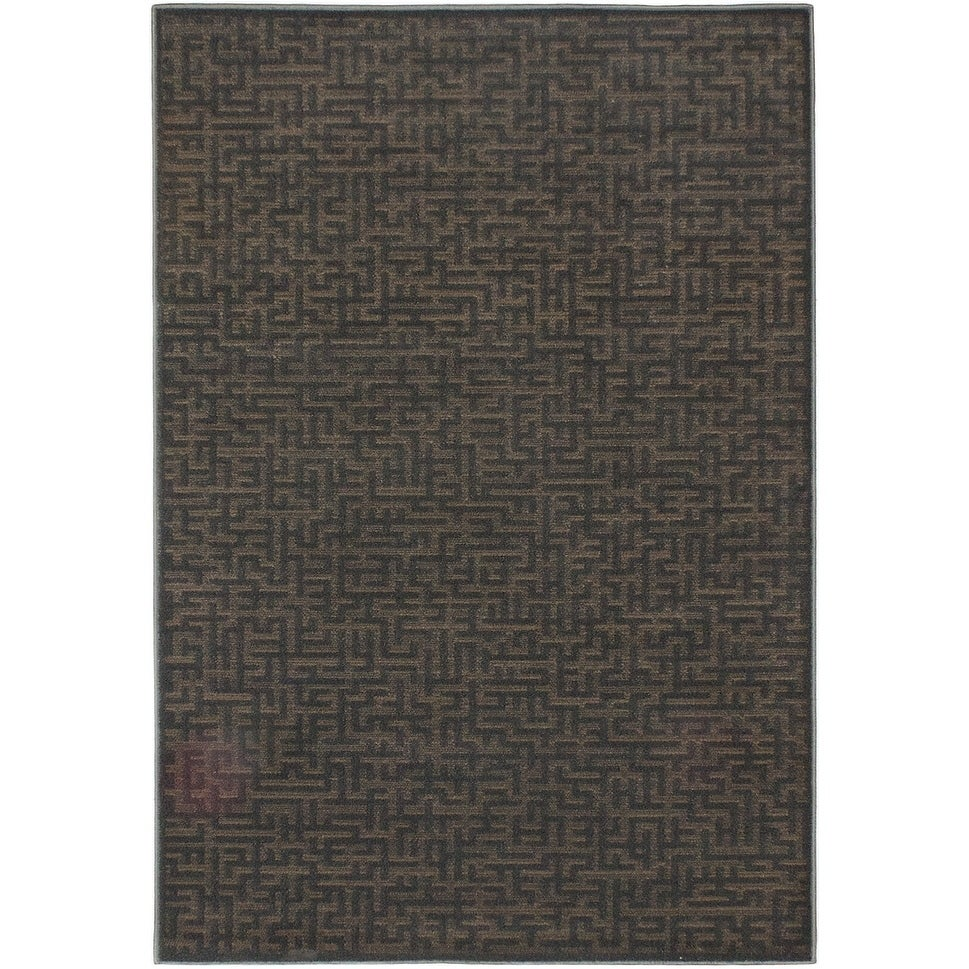 ECARPETGALLERY Machine Woven Cuidate Dark Grey Polypropylene Rug - 53 X 76 (53 X 76 - Grey)