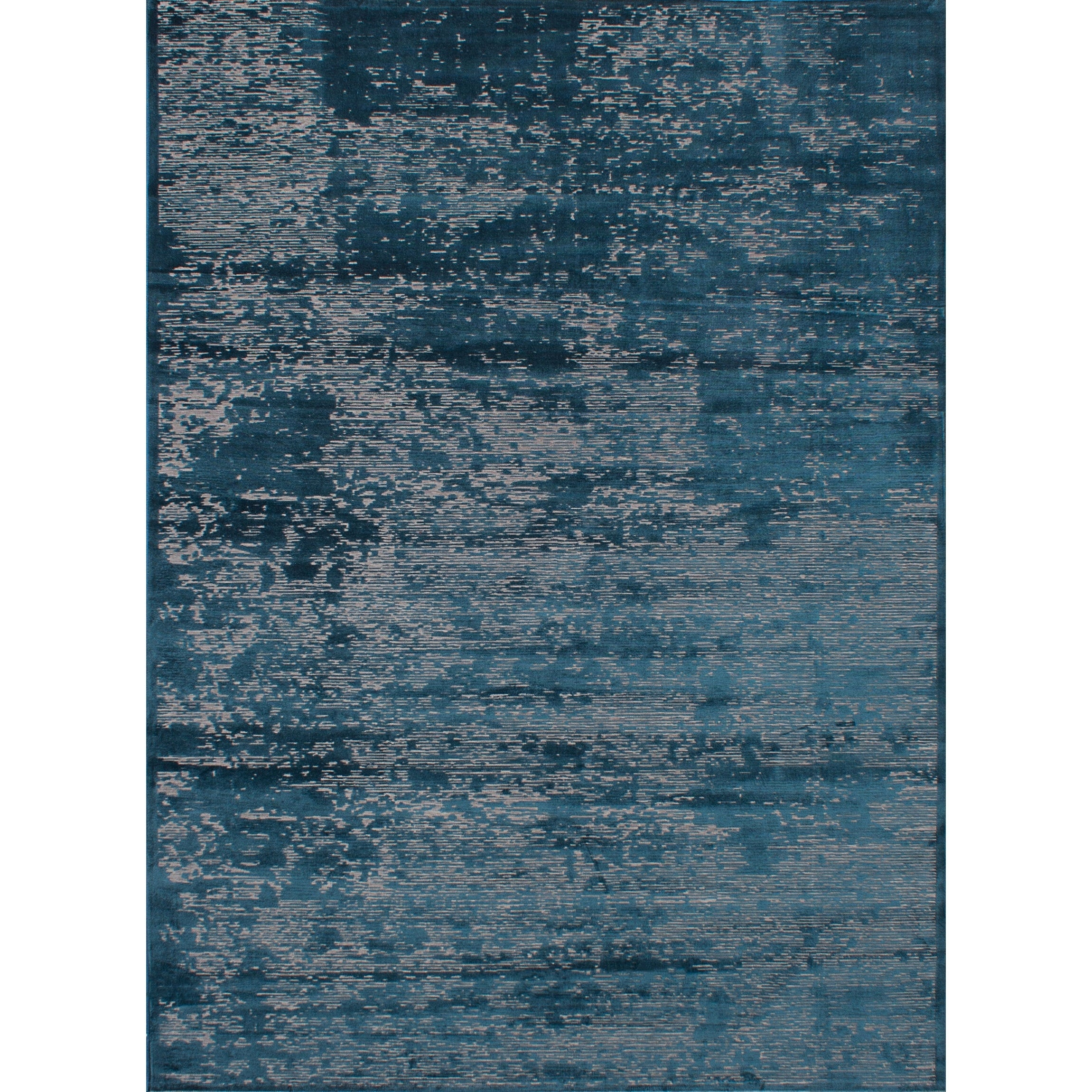 ECARPETGALLERY Machine Woven Infinity Turquoise Viscose Rug - 76 x 102 (76 x 102 - Blue)