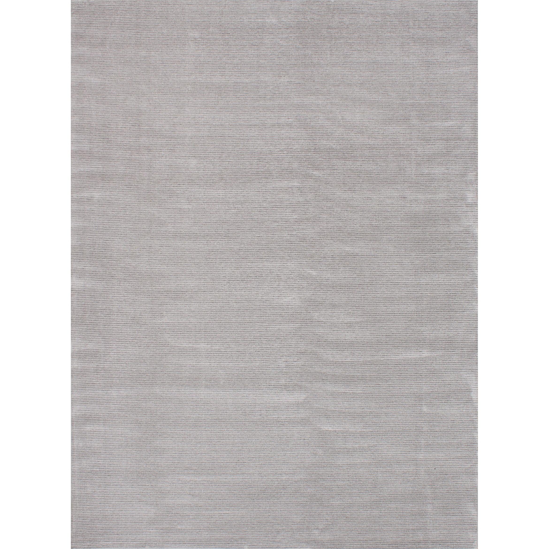 ECARPETGALLERY Machine Woven Infinity Light Grey Viscose Rug - 76 x 102 (76 x 102 - Grey)