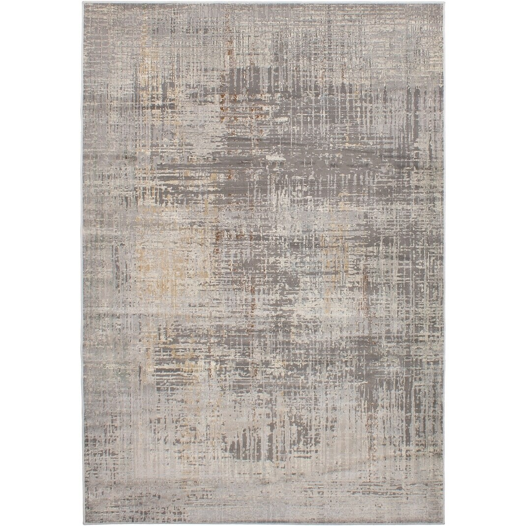 ECARPETGALLERY Machine Woven Impressions Light Grey Polypropylene Rug - 66 x 96 (66 x 96 - Grey)