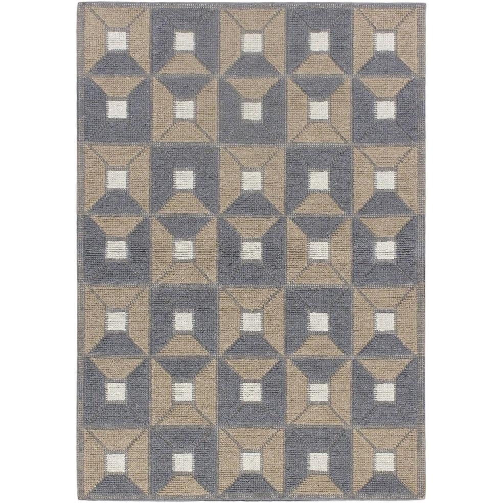 ECARPETGALLERY Braided weave Rodeo Beige Wool Rug - 47 x 67 (Beige - 47 x 67)