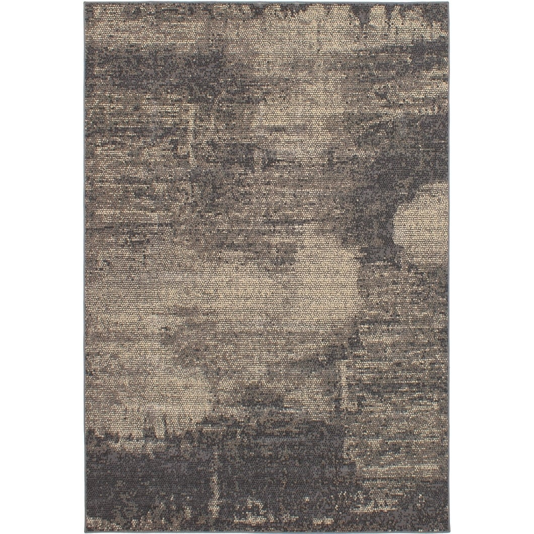 ECARPETGALLERY Power Loomed Hermes Grey Polypropylene Rug - 65 x 96 (65 x 96 - Grey)