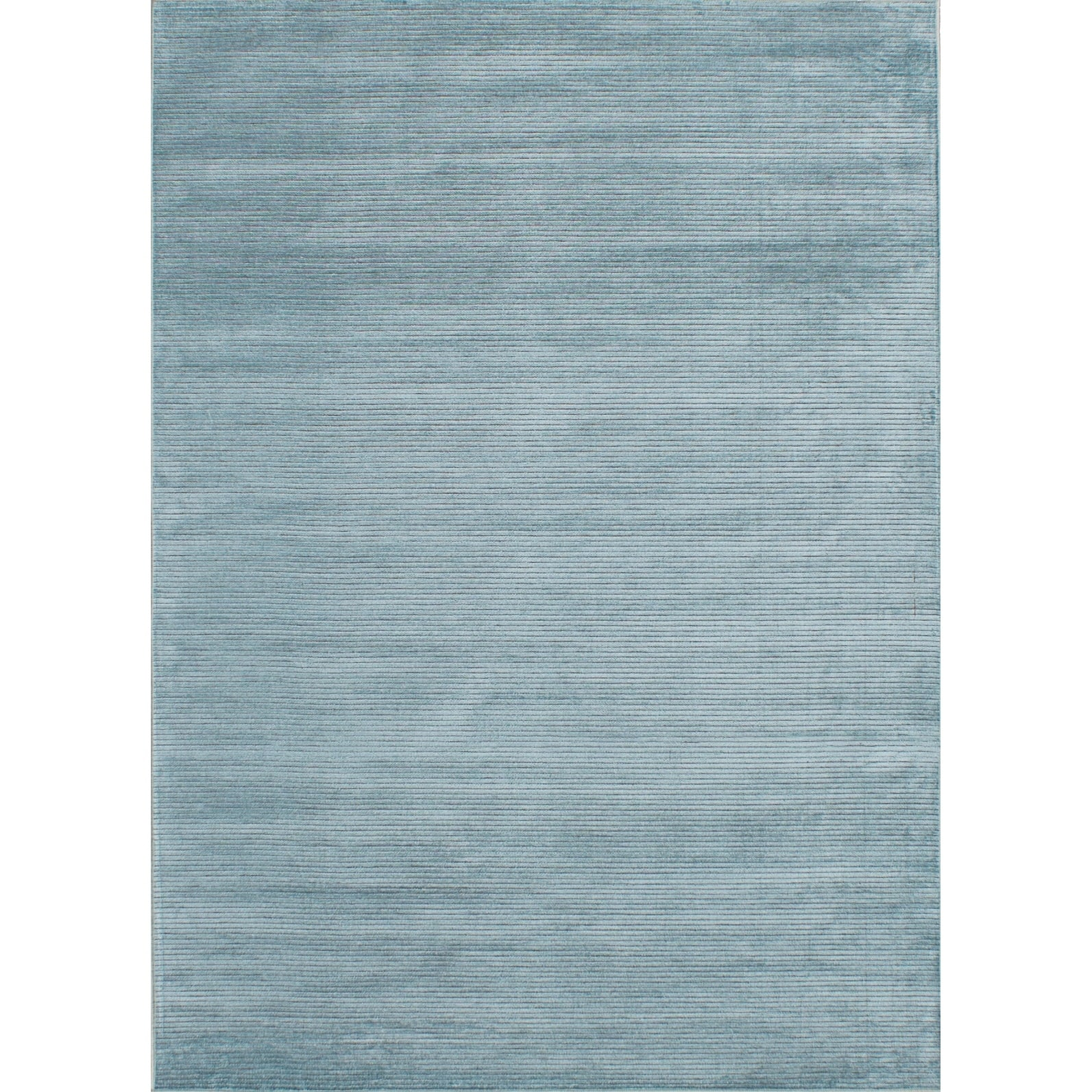 ECARPETGALLERY Machine Woven Infinity Light Blue  Viscose Rug - 50 x 610 (50 x 610 - Blue)