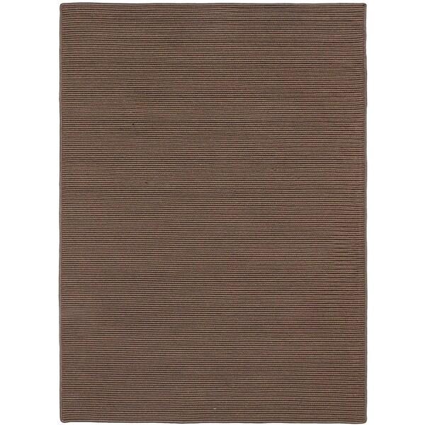Ecarpetgallery Braided Weave Panama Jack Dockside Dark Brown Polypropylene Rug 5 0 X 7 Free Shipping Today 23575629