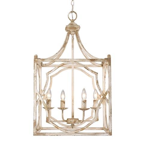 Laurent 4-Light Pendant in Antique Ivory
