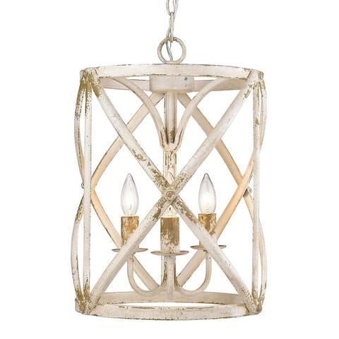 Alcott 3-Light Pendant in Antique Ivory