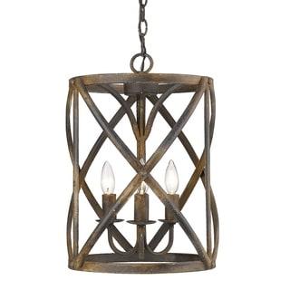 Link to Alcott 3-Light Pendant in Antique Black Iron Similar Items in Pendant Lights
