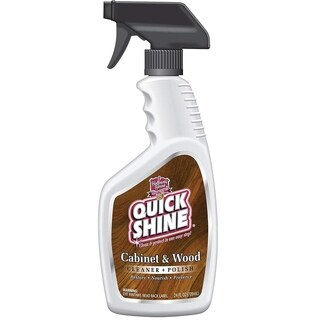 Quick Shine Prime Cabinet & Wood Cleaner and Polish, 24 Ounce Spray Bottle (Pack of 6 Bottles)