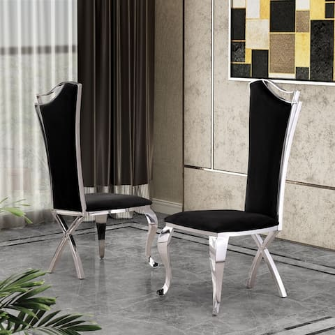 Best Quality Furniture Luxe Upholstered Dining Accent Chairs (Set of 2)