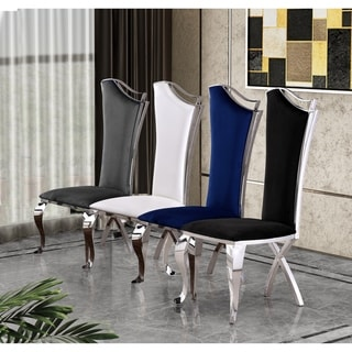 Link to Best Quality Furniture Luxe Upholstered Dining Accent Chairs (Set of 2) Similar Items in Dining Room & Bar Furniture