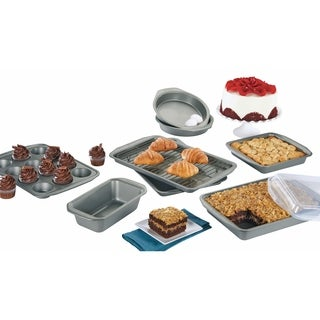 Circulon Nonstick Bakeware 10-Piece Bakeware Set, Gray