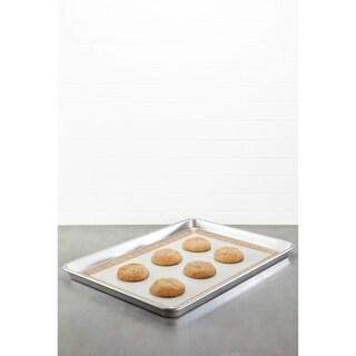 "Ayesha Bakeware Sheetpan with Nonstick Baking Mat, 13"" x 18"" - Silver"