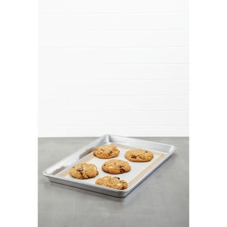 "Ayesha Bakeware Sheetpan with Nonstick Baking Mat, 9"" x 13"" - Silver"
