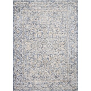 Classic Blue/ Gold Ornate Vintage Area Rug - 11'6 x 15'6