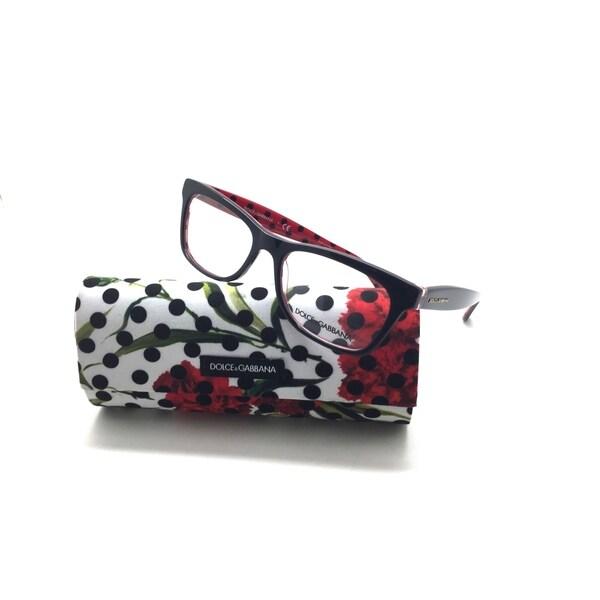 cf8f21e3d204 Shop Dolce & Gabbana Polka Dots Eyeglasses Dg3199 2871 Black Red 53 ...