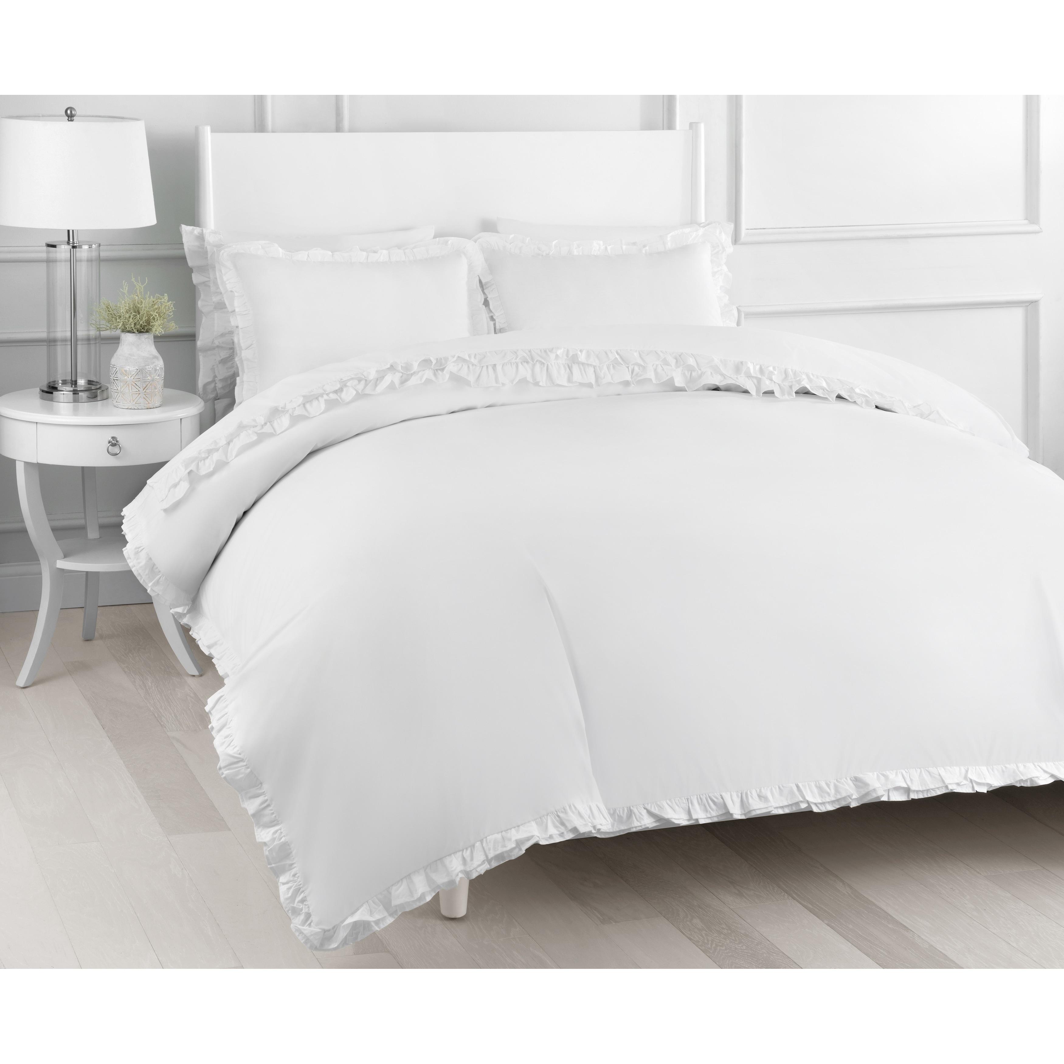 Crisp Soft 100/% Cotton Percale 3pc Duvet Cover Set