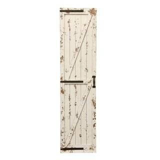 Weathered White Farmhouse Barn Door Wall Art