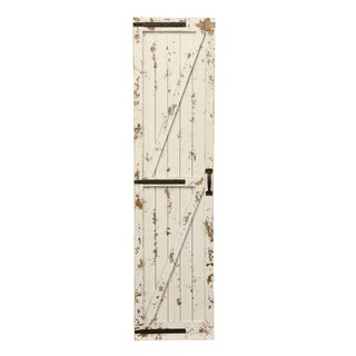 Weathered White Farmhouse Barn Door Wall Art