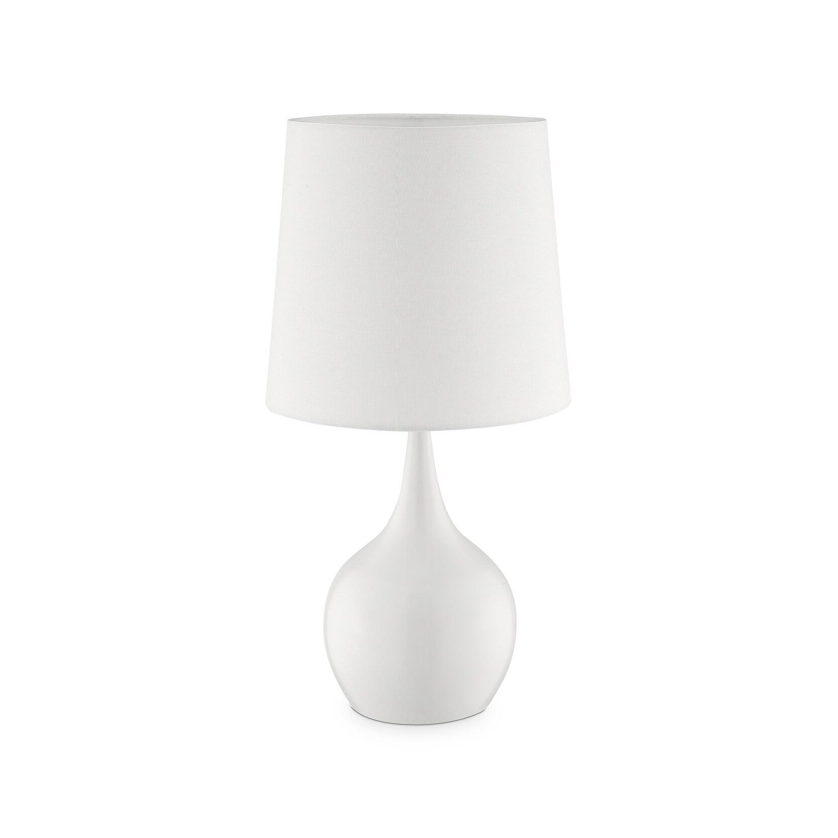 Niyor Mid Century Modern Touch Metal Table Lamp Overstock 23576849 Grey