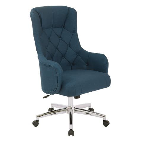 OSP Home Furnishings Ariel Desk Chair in Klein Fabric