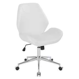 Chatsworth Faux Leather Office Chair with Chrome Base