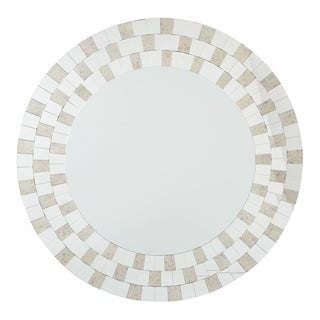 OSP Designs Light Gold Frame Round Mirror ASM - Light gold