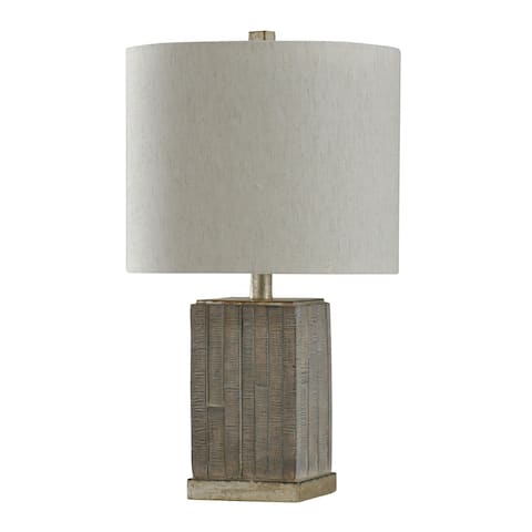 StyleCraft Seth Moroni Shelby Silver Table Lamp - Heavy White Shade