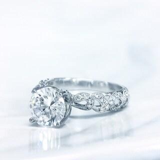 Lihara and Co. 18k White Gold 1/5ct TDW White Diamond Semi-Mount Engagement Ring (G-H, VS1-VS2)