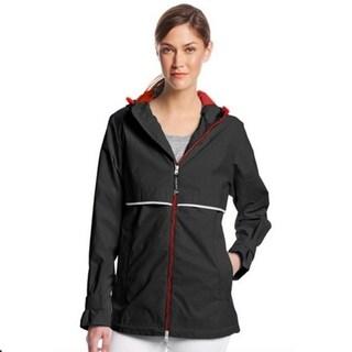 Charles River Women's Englander Rain Jacket Mystery Black