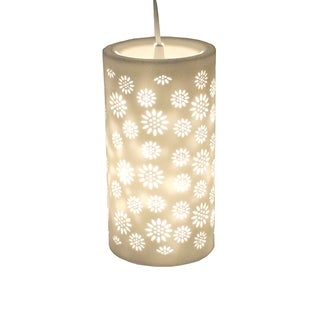 Essential Decor & Beyond 1-Light White Pendant EN111284 - 11 x 5.6 inches