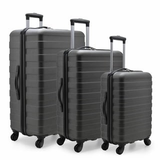 U.S. Traveler Cypress Colorful 3-Piece Hardside Spinner Luggage Set
