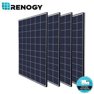 4pcs Renogy 270W 24V Poly Solar Panel 1000 Watt 1000W Off Grid Power Home Cabin