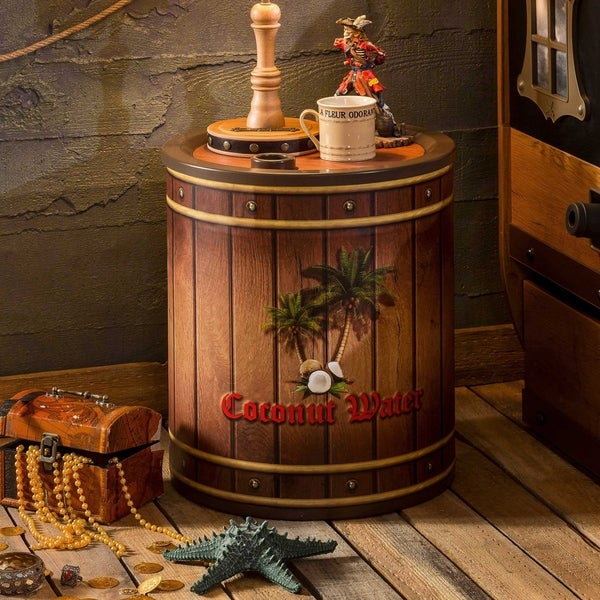 Cilek Pirate Coconut Nightstand and Toy Box. Opens flyout.
