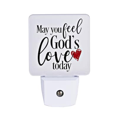 May You Feel God's Love Let Your Light Shine Night Light