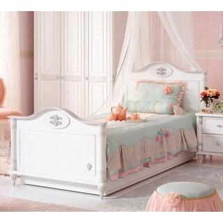 Cilek Romantic White Laminate Twin XL Bed