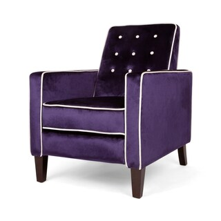 La Verne Glam Velvet Pushback Recliner with Contrast Piping by Christopher Knight Home