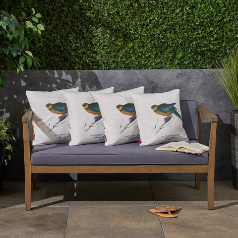 """Avian Outdoor 17.75"""" Square Cushion (Set of 4by Christopher Knight Home"""