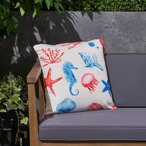 """Bayside Outdoor 17.75"""" Square Cushion by Christopher Knight Home"""